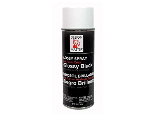 Colortool Floral Spray Paint 12 Ounces-Glossy Blac