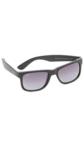 Ray-Ban JUSTIN - RUBBER BLACK Frame GREY GRADIENT Lenses 51mm - Rayban Rubber