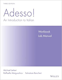 Book Adesso!, Workbook/Lab: An Introduction to Italian