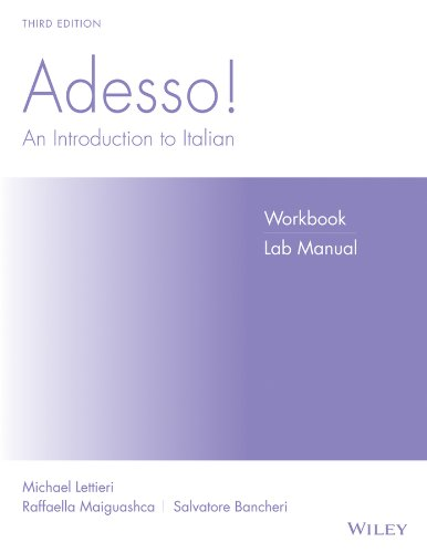 Adesso!, Workbook/Lab: An Introduction to Italian