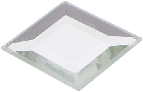 Plymor Square 3mm Beveled Glass Mirror, 1 inch x 1 inch Pack of 144