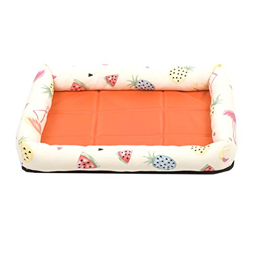 LWKBE Cute Pet Bed Sleep Cozy Beds,Durable Waterproof Dog Bed, Breathable Pet Bed Mattress Orthopedic Dog Sofa Couch-Organic Cotton,Yellow