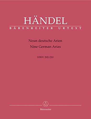 Handel: 9 German Arias, HWV 202-210 (Set of -