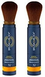 Brush on Block Mineral Sunscreen Powder, Broad Spectrum SPF30 Duo/2pack