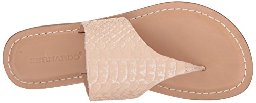 Bernardo Womens Monica Flat Dress Sandaal Blush Snake