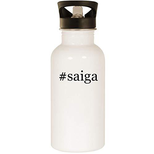 #saiga - Stainless Steel Hashtag 20oz Road Ready Water Bottle, White