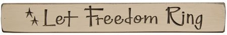Block Ring Star - Let Freedom Ring Engraved Block With Stars Painted Distressed Wood Patriotic Americana Country Décor