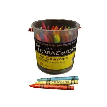 Crayons 69 ct - in a Bucket 36 pcs sku# 377378MA by DDI