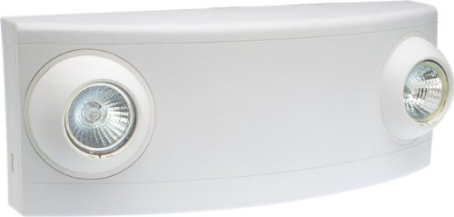 Dual-Lite LZ15 LED Emergency Light, 15W Double Head Remote Low Profile - White