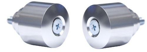Yana Shiki BEH7S Silver OEM Replacement Bar End Set for Honda Sport Bikes (Ends Sportbike Bar)