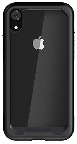 Ghostek Atomic Slim Clear Back Case Wireless Charging Compatible with iPhone XR - Black