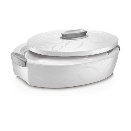 ENJOY OVAL INSULATED FOOD SERVER WITH OVENPROOF DISH ''TUTTOCALDO'' 3 Lts - White by Enjoy