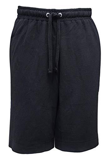 - Mens Full Length Side Zipper Shorts (2X, Black with Pockets)