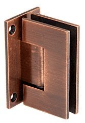 C.R. LAURENCE GEN037ABC0 CRL Antique Brushed Copper Geneva 037 Series Wall Mount Full Back Plate Standard Hinge 037 Series Antique