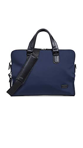 TUMI - Harrison Seneca Laptop Slim Brief Briefcase - 15 Inch Computer Backpack for Men and Women - Navy