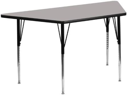 Flash Furniture 25 W X 45 L Trapezoid Grey Hp Laminate Activity Table Standard Height Adjustable Legs Furniture Decor Amazon Com