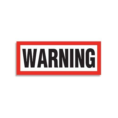 """GHS Safety GHS1276, 6.25"""" x 15.75"""" Warning Signal Word Sign, Pack of 20 pcs"""