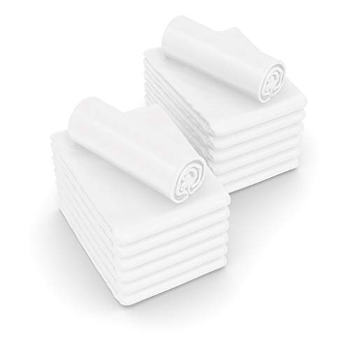 JMR Flat Draw Bed Sheets Muslin T130 Cotton Blend (54x90, White 6 Piece) (Twin Pack White)