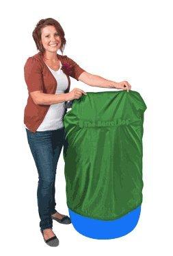 55 Gallon Barrel Bag Cover, Heavy Duty, Green,