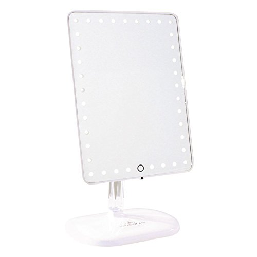 Impressions Vanity Company Touch Pro LED Makeup Mirror with Wireless Bluetooth Audio + Speakerphone & USB Charger, White, 32 Pound by Impressions Vanity Company