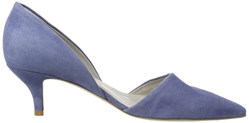 para Schuhmanufaktur con Cerrada Punta Schmenger Azul Jeans Mujer Zapatos und Selma Tacón Kennel de wUEZvv