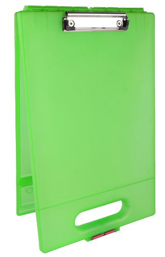 Dexas School Clipcase Storage Clipboard, Lime