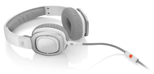 JBL J55i High-Performance On-Ear Headphones with JBL Drivers, Rotatable Ear-Cups and Microphone - White
