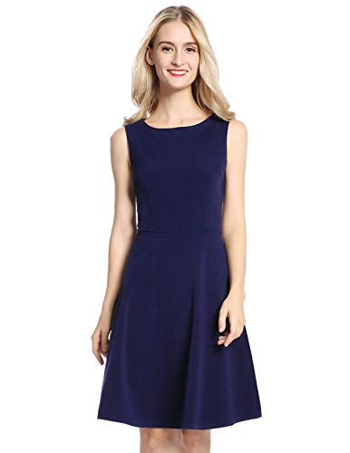 Mavis Laven Boutique Solid Above-The-Knee Sleeveless Dance Dresses for Women Nave Blue x-Large ()