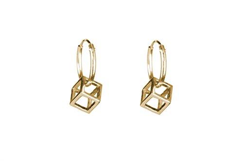 Rachel ENTWISTLE or cube Mini Créoles