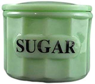 G3370JSU Jadeite Green Glass Panel Pattern Container Canister with Lid - Sugar ()