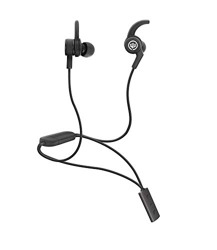 Wicked Audio Shred2 Wireless Bluetooth Sweat Proof Earbud Noise Isolating Wireless Earbuds Bluetooth Headphones, Workout and Running Headphones with Microphone and Track Control Black Iron