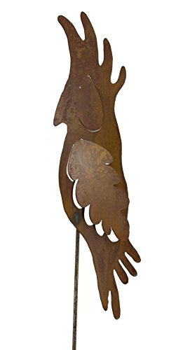 Parrot Rusty Metal Garden Stake