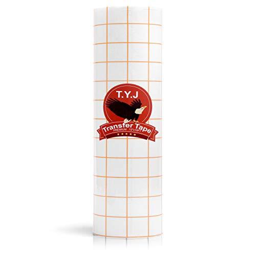T.Y.J Transfer Tape for Vinyl, Paper Roll 12