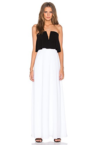Colorblocked Maxi Dress (BCBGMAXAZRIA Alyse Strapless Color-Blocked Gown, 8)