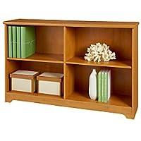 Realspace(R) Magellan Collection 2-Shelf Sofa Bookcase, Honey Maple