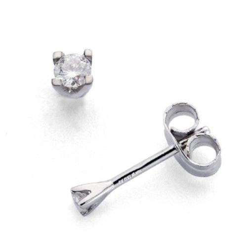 Boucles d'oreilles or 18 kt. avec des diamants 0,11ct.
