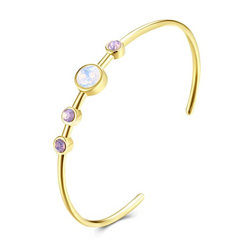 SOMUNS Imitation Gold Plated Bangle Bracelet,Fashion Bracelet Jewelry Gift for Woman, Valentine's Day Mother's Day