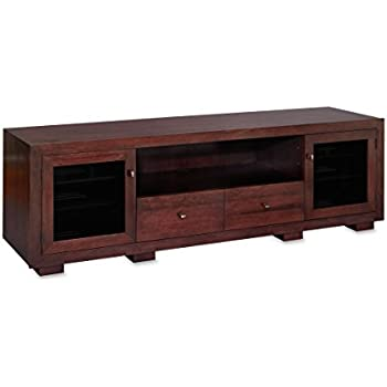 corner wood tv stands for flat screens haven ex solid stand console media screen standout designs espresso cherry oak with fireplace