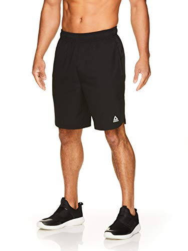 Reebok Men's Lightweight Workout Gym & Running Shorts w/Elastic Drawstring Waistband & Pockets - 9 Inch Inseam - Apex Training Black, Large