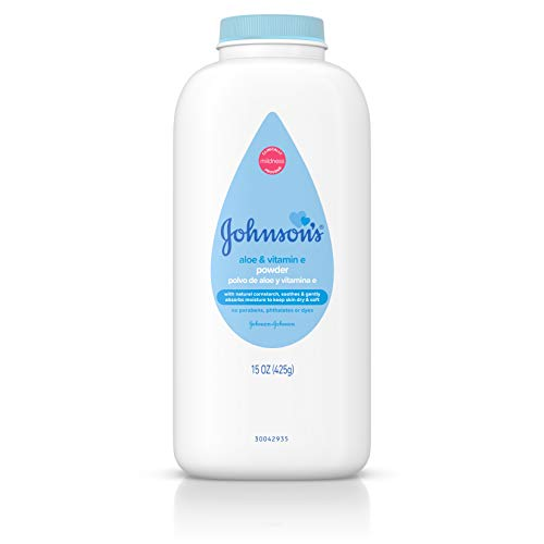 Johnson's Baby Powder With Aloe Vera & Vitamin E For After Bath, 15 Oz.