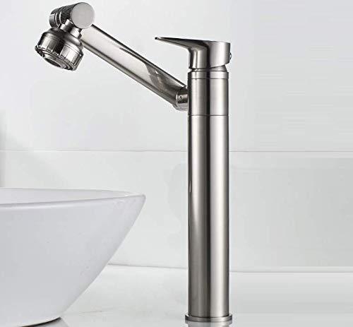 Bathroom Faucet Faucet Hot and Cold Bathroom Bathroom Cabinet Washbasin Washbasin On The Table Pull-Type Rotating Basin Single Hole Shampoo