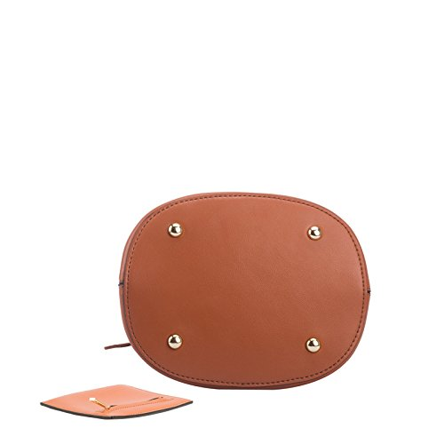 Nero Trendy Gwqgz Borsetta Ladies' Brown Anello Benna Rotondo wYnxR61aTn
