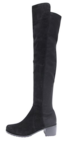 5beb16aef71 Kaitlyn Pan Mid Block Heel Genuine leather over the knee boots ...