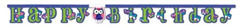 Jointed Happy Birthday Banner, Owl Pal -