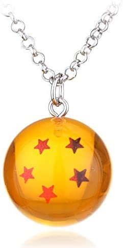 FITIONS - Anime Dragon Ball Z necklace orange pvc 1-7 stars ...
