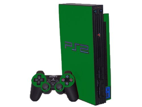 (Sony PlayStation 2 (PS2) Skin - NEW - GROOVY GREEN system skins faceplate decal mod )