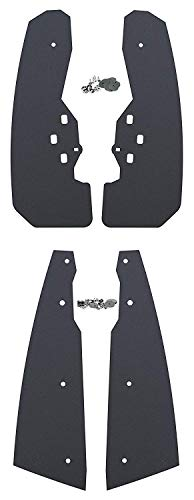 Issyzone Extended Mud/ Flaps/ Fender/ Flares for 2015-2019 Polaris/ RZR-S/ 900 RZR-S/ 1000 RZR-4/ 900 Black Front /& Rear Mud Guards