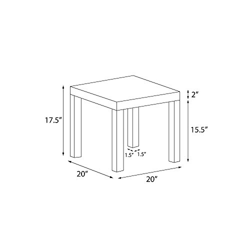 DHP Parsons Modern End Table, Multi-use and Toolless Assembly, White by DHP (Image #1)