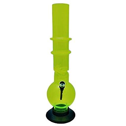 Metier Moksha Bongs 16 inch Tall Transparent Green, 5cm