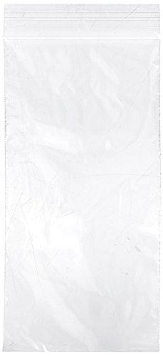 [해외]Elkay F20408H 행잉 홀이있는 2 mil 라인 단일 트랙 실 윗면 가방, 4 x 8, 클리어 (1000 개짜리 팩)/Elkay F20408H 2 mil Line Single Track Seal Top Bag